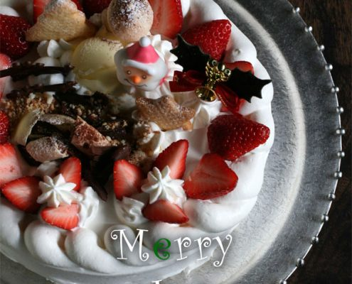 錫丸ケーキ皿・星屑・ゆり工房