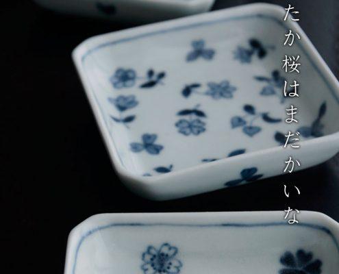 正角小皿・大・高台有り・植山昌昭