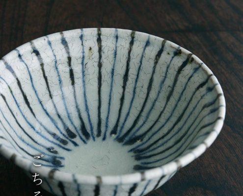 煮物鉢・紫縞・ 杉本太郎