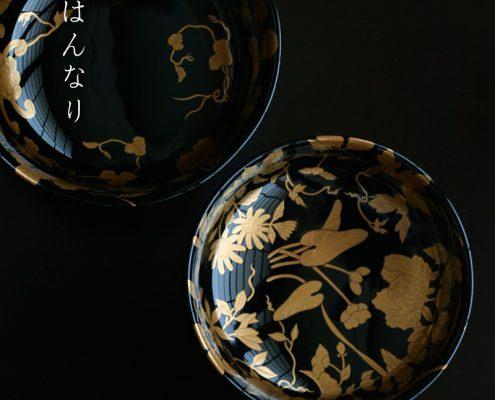 漆器・糸目百花椀・尚古堂