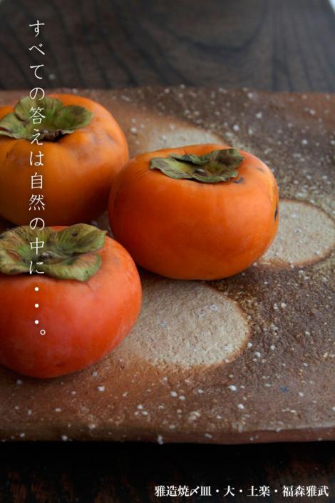 雅造焼〆皿・大・土楽・福森雅武