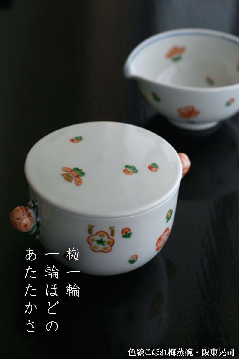 色絵こぼれ梅蒸碗・阪東晃司