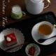ガラス:絵付け豆皿・やどりぎ・金彩・d.Tam