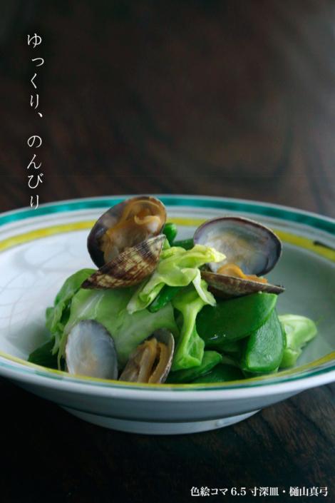 色絵コマ6.5寸深皿・樋山真弓