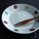 色絵:花文5寸皿・古川章蔵