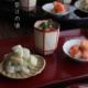 京焼:赤絵ぼんぼり型猪口・伏原博之