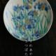 京焼・色絵燕子花紋4寸皿・伏原博之