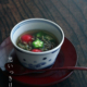 九谷焼:染付岩に波図蕎麦猪口・正木春蔵