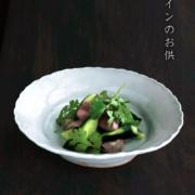 白磁:白磁6寸楕円輪花鉢・杉本太郎