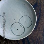 伊賀焼:雅造輪絵文様皿・小・土楽:福森雅武