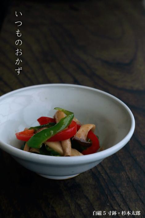 白磁:白磁5寸鉢・杉本太郎