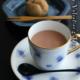 磁器:バラ文岡染めコーヒー碗皿・大倉陶園