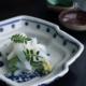 九谷焼:色絵染付松川菱形向付・正木春蔵
