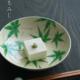 京焼:色絵青もみじ紋鉢・伏原博之
