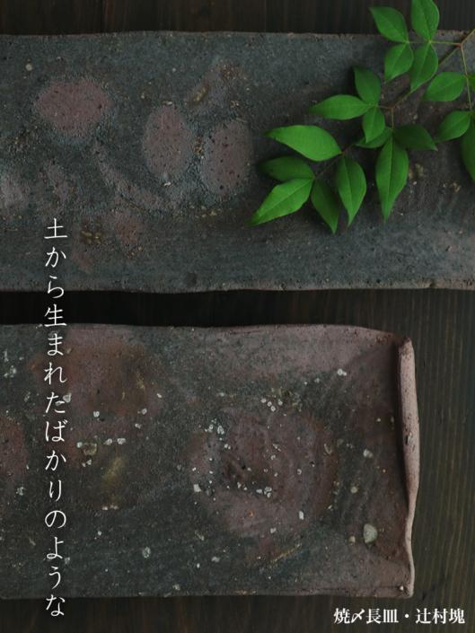 焼〆長皿・辻村塊