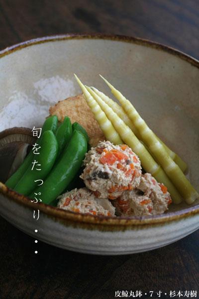 皮鯨丸鉢・7寸・杉本寿樹