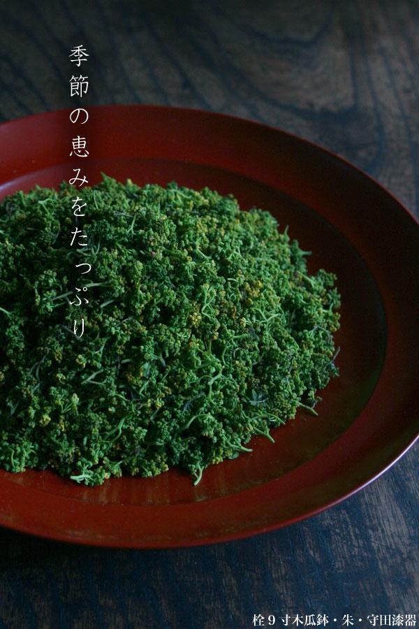 栓9寸木瓜鉢・朱・守田漆器:和食器の愉しみ・工芸店ようび