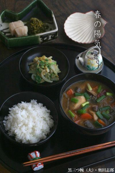 一汁一菜 お味噌汁中心の食事 No.13 たぬき汁